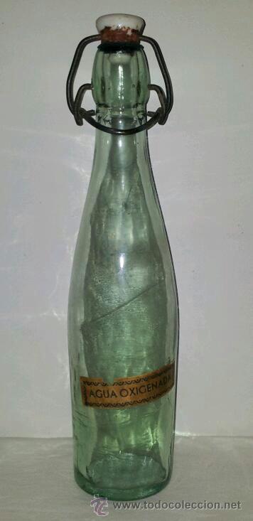 Botellas antiguas: ANTIGUA BOTELLA AGUA OXIGENADA CRISTAL PRINCIPIOS DE SIGLO XX - Foto 4 - 36798981