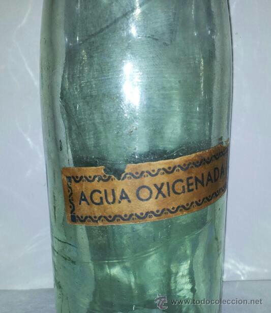 ANTIGUA BOTELLA AGUA OXIGENADA CRISTAL PRINCIPIOS DE SIGLO XX (Coleccionismo - Botellas y Bebidas - Botellas Antiguas)