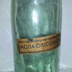 Botellas antiguas: ANTIGUA BOTELLA AGUA OXIGENADA CRISTAL PRINCIPIOS DE SIGLO XX. Lote 36798981