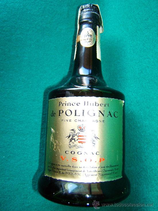 PRINCE HUBERT DE POLIGNAC - COGNAC - BOTELLA 75 CC - FRANCIA V.S.O.P. - SIN ABRIR - DECADA 1960 ? (Coleccionismo - Botellas y Bebidas - Botellas Antiguas)