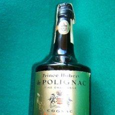 Botellas antiguas: PRINCE HUBERT DE POLIGNAC - COGNAC - BOTELLA 75 CC - FRANCIA V.S.O.P. - SIN ABRIR - DECADA 1960 ? . Lote 36922367