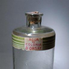 Botellas antiguas: FRASCO DE AGUA DE COLONIA D'ORSAY VIDRIO SOPLADO AÑOS 20 MEDIDAS 23 CM ALTO APROX. BOTELLA. Lote 37011913