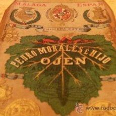 Botellas antiguas: BOTELLA ANIS OJEN - MÁLAGA - PEDRO MORALES E HIJO - EXCEPCIONAL. Lote 37056278