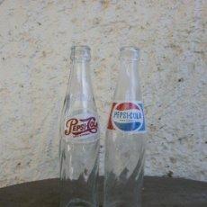 Botellas antiguas: 2 ANTIGUAS BOTELLAS PEPSI COLA DIFERENTES. Lote 37166164