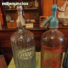 Botellas antiguas: LOTE 2 SIFONES CON TAPON DE PLOMO. Lote 37541179