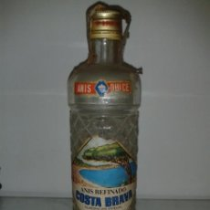 Botellas antiguas: BOTELLA ANÍS REFINADO COSTA BRAVA , PRECINTO 2 PTS.. Lote 37726136
