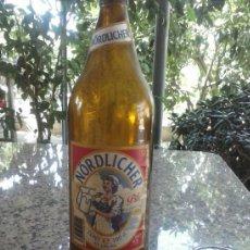 Botellas antiguas: BOTELLA DE CERVEZA, ETIQUETA EN PAPEL, NORDLICHER. 1 LITRO. Lote 38321296