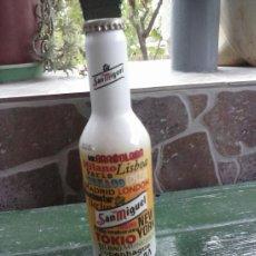 Botellas antiguas: BOTELLA DE CERVEZA SAN MIGUEL , EN ALUMINIO, LLENA 25 CL.. Lote 38411778