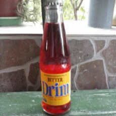Botellas antiguas: BOTELLA DE BITER, DRIM, SIN ALCOHOL. 20 CL.ETIQUETA PAPEL. Lote 38411789