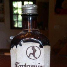 Botellas antiguas: FRASCO ANTIGUO DE FORTAMIN - TÓNICO - SCHERING S.A. - LLENO Y RARO. Lote 38544623