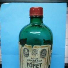 Botellas antiguas: BOTELLA AGUA OXIGENADA FORET - MEDIO LITRO - . Lote 38688620
