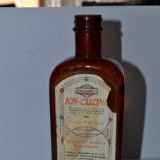 Botellas antiguas: ANTIGUO MEDICAMENTO ION CALCINA PALLARES BOTELLA FARMACIA. Lote 38711587