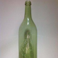 Botellas antiguas: BOTELLA COÑAC CABALLERO LETRAS EN RELIEVE Y ESCUDO. Lote 39200959