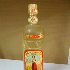 Botellas antiguas: . BOTELLA ANIS LA CASTELLANA LLENA. 1 LITRO. . Lote 39327271
