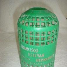 Botellas antiguas: FUNDA PLÁSTICO SIFÓN FCO ESTEVAN HERNÁNDEZ VILLENA. Lote 39332642