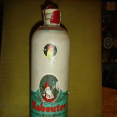 "Botellas antiguas: ANTIGUA BOTELLA CERAMICA""GIN KABOUTER""GOLDEN GENEVER.PRECINTO 4 PTS.TAPÓN CORCHO.LLENA. C1970. Lote 39429586"