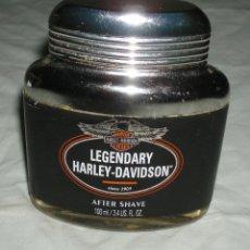 Botellas antiguas: BOTELLA DE AFTER SHAVE LEGENDARY HARLEY-DAVIDSON LLENA. Lote 39547489