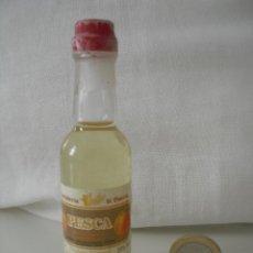 Botellas antiguas: MINI BOTELLA, BOTELLIN EN MINIATURA. LIQUORE DI PESCA. MORANDINI BOTELLITA. MINIBOTELLA.. Lote 39628599