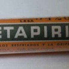 Botellas antiguas: BOTE FRASCO METAPIRIL FARMACIA LABORATORIOS LASA // LLENO. Lote 39777423