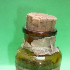 Botellas antiguas: SULFATO DE COBRE EN CRISTAL. MUY ANTIGUO BOTE DE FARMACIA. PROD. BUSQUETS. BADALONA.. Lote 39877345