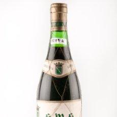 Botellas antiguas: BOTELLA VINO TINTO DE RIOJA, MARCA S M S, AÑO 1970, DE VILLABUENA(VINO DE COLECCION). Lote 40046976