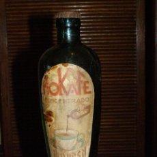 Botellas antiguas: BOTELLIN - BOTELLA VACIA MOKAFE ARMISEN 1946 CONCENTRADO LABORATORIOS ARMISEN ZARAGOZA. Lote 40086980