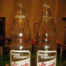 Botellas antiguas: GASEOSA LA INESPERADA. LINARES JAEN. 2 DISTINTOS.. Lote 27284992