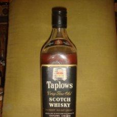 "Botellas antiguas: ANTIGUA BOTELLA ""TAPLOWS"" OVER 5 YEARS OLD SCOTCH WHISKY. TAPÓN ROSCA. LLENA Y SIN ABRIR. C1960. Lote 40679334"