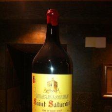 Botellas antiguas: BOTELLA DE VINO FRANCÉS DE 12 LITROS. Lote 40892556