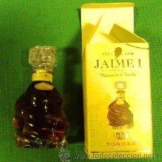 Botellas antiguas: BOTELLA DE COGNAC JAIME I CASA TORRES 10CM DE ALTA. Lote 40948275