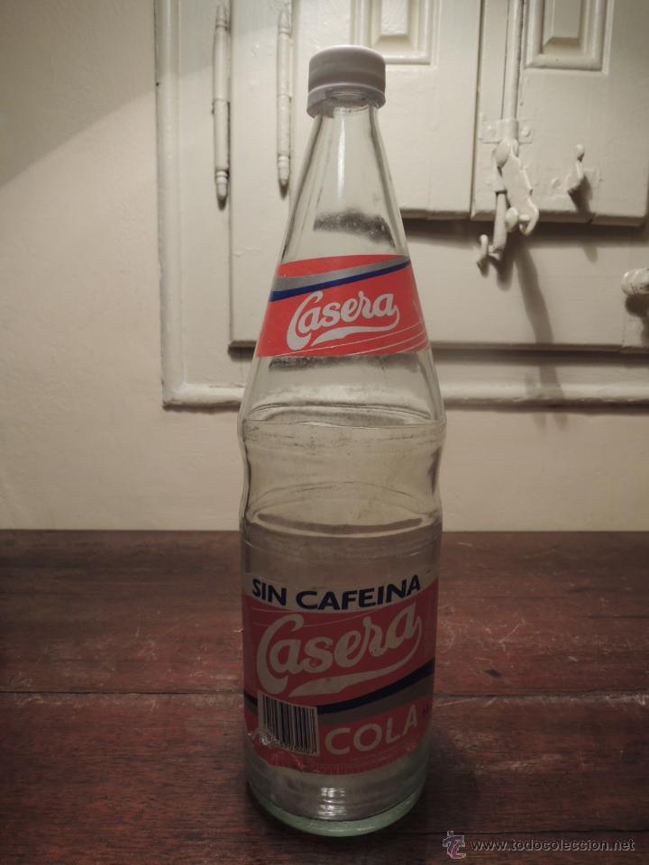BOTELLA VACIA CASERA SIN CAFEINA COLA - 1 LITRO - FABRICANTE CARBÓNICAS BARCINO - 1994 (Coleccionismo - Botellas y Bebidas - Botellas Antiguas)