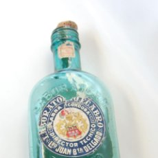 Botellas antiguas: FRASCO DE FARMACIA BIDGASTROL DE LABORATORIOS EGABRO CABRA CÓRDOBA // AÑO 1915. Lote 41295984
