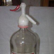 Botellas antiguas: BOTELLA SIFON- LA MASIA CAPDEVILA Y CIA - MOLLERUSA. Lote 41306586