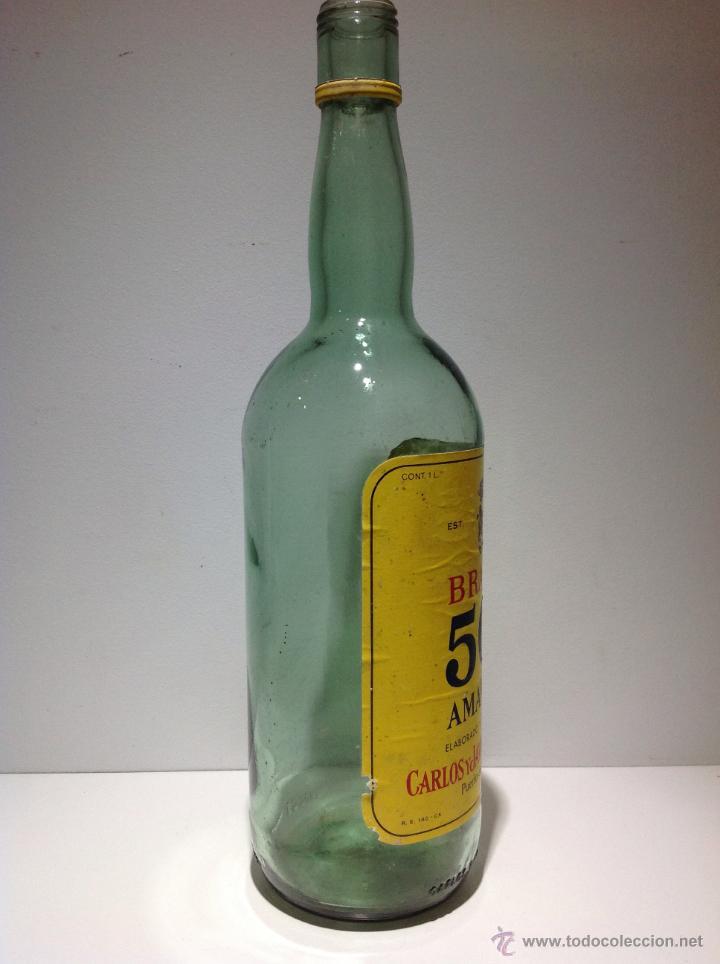 Botellas antiguas: BOTELLA DE BRANDY 501 AMARILLA. TERRY. - Foto 3 - 41372158