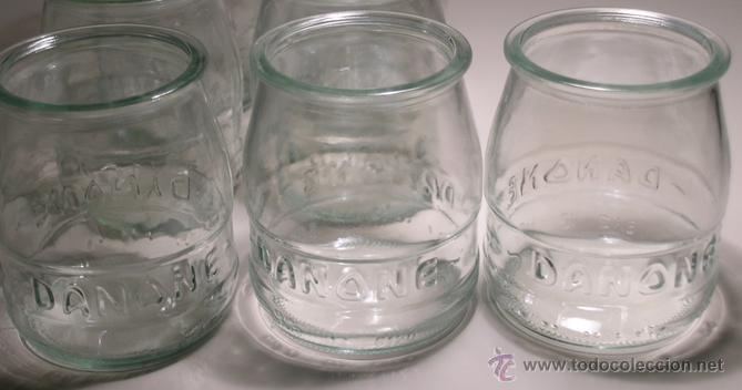 tarro cristal yogur danone letras relieve 13 Comprar Botellas