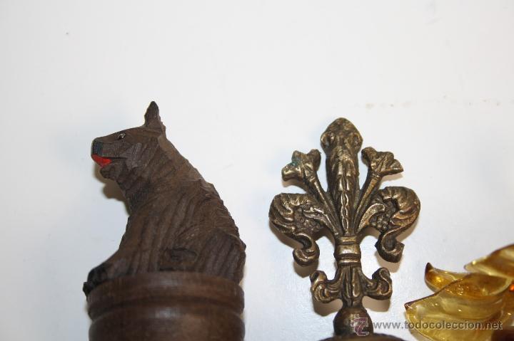 Botellas antiguas: LOTE DE 5 TAPONES PARA BOTELLA - DISTINTOS MATERIALES Y FORMAS - PRINC. S.XX - Foto 6 - 42220098