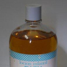 Botellas antiguas: FRASCO COLONIA LOCIÓN INFANTIL GARBANCITO 1 L // LLENO SIN DESPRECINTAR. Lote 42289656