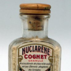 Botellas antiguas: FRASCO FARMACIA NUCLARENE COGNET MEDICATION REPARATRICE DEFENSE ORGANIQUE PARÍS PP S XX SIN ABRIR. Lote 42325673