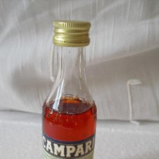 Botellas antiguas: MINI BOTELLA, BOTELLIN MINIATURA BOTELLIN CAMPARI BITTER. DAVIDE MILANO BOTELLITA.MINIBOTELLA.. Lote 42350891