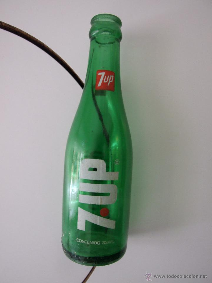 BOTELLIN SERIGRAFIADO 200 CC - REFRESCO - SEVEN UP 7UP (Coleccionismo - Botellas y Bebidas - Botellas Antiguas)