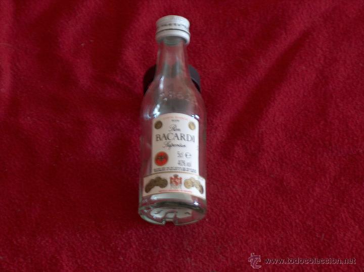 BOTELLA BACARDI, RON SUPERIOR RUM, 5CL. (Coleccionismo - Botellas y Bebidas - Botellas Antiguas)