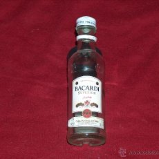 Botellas antiguas: BOTELLA BACARDI, RON SUPERIOR, 5CL.. Lote 42640508