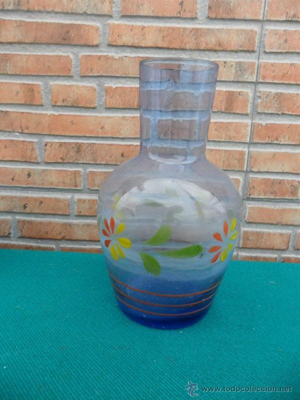 BOTELLA CRISTAL AL AGUA (Coleccionismo - Botellas y Bebidas - Botellas Antiguas)