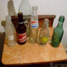 Botellas antiguas: LOTE 6 BOTELLAS ANTIGUAS.. Lote 42701219