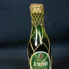 Botellas antiguas: BOTELLA BRANDY FERNANDO A DE TERRY 1900 TIMBRE FISCAL 50 CÉNTIMOS 12,5X3,5CMS. Lote 43158921