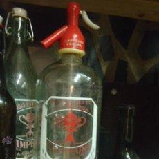 Botellas antiguas: SIFON AGUA DE SELTZ Y GASEOSA T CAMPEONA ZAMORA. Lote 43334010