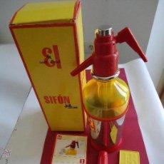 Botellas antiguas: BOTELLA SIFÓN DE LA MARCA J.B. CON TODOS LOS ACCESORIOS.RECARGABLE. Lote 43536423