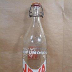 Botellas antiguas: ANTIGUA BOTELLA CRISTAL -ESPUMOSOS JOYA - UTIEL VALENCIA - 1 LITRO - GASEOSA. Lote 92081429
