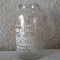 Botellas antiguas: ENVASE DE CRISTAL SERIGRAFIADO, MERMELADA GEMPEL, AÑOS 70, MOLINS DE REI.. Lote 44026352