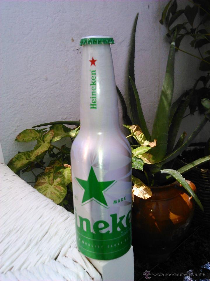 BOTELLA VACÍA DE ALUMINO HEINEKEN 33 CL. (Coleccionismo - Botellas y Bebidas - Botellas Antiguas)